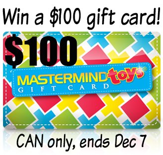 Win a $100 Mastermind Toys gift card (CAN, 12/7)