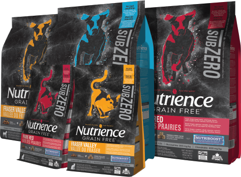 Nutrience Subzero makes raw and grain-free pet food easy! Comes in Canadian Pacific, Fraser Valley, and Prairie Red recipes.