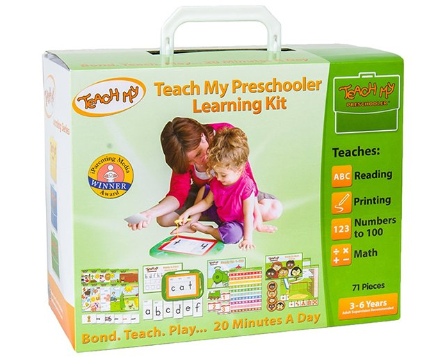 Teach My learning kits gather all the resources you need to teach your baby, toddler, or preschooler basic skills and knowledge to give them a head start for school.