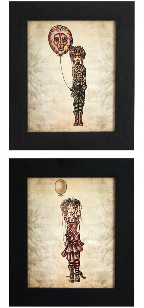 Love these quirky girl with balloon prints from Artistry by Lisa Marie!