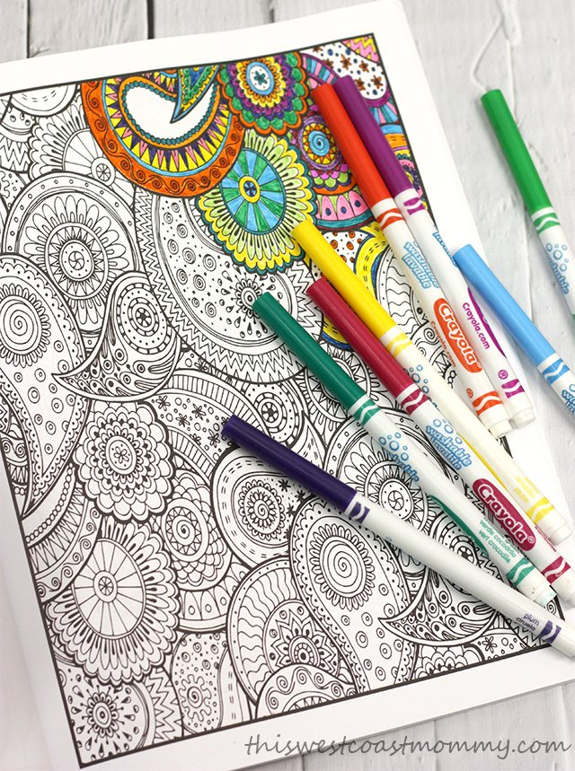 Relax With Adult Colouring Books From Vintage Pen Press Twcmgifts