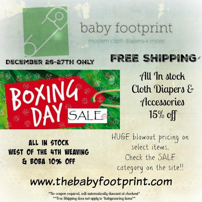 Baby Footprint Boxing Day Sale
