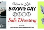 Boxing Day Sale Directory – Now Accepting Listings!