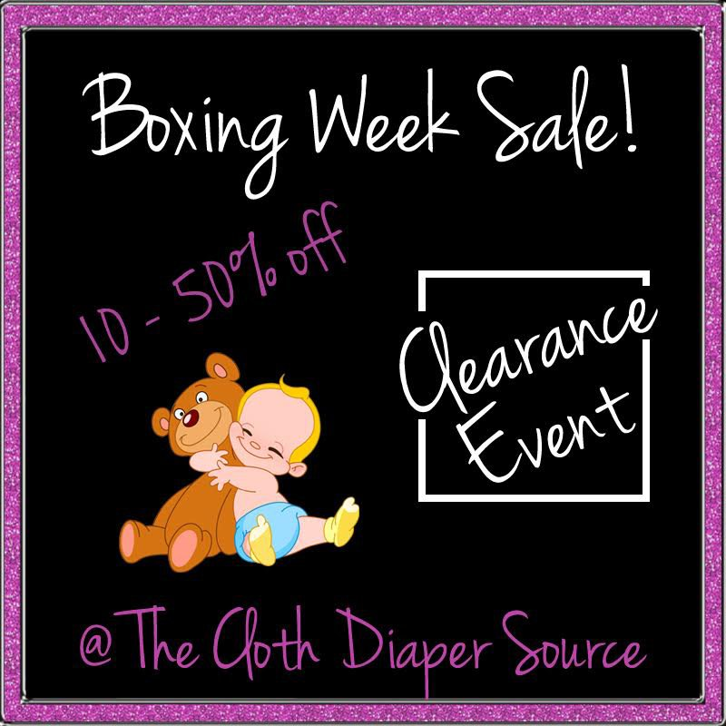 Cloth Diaper Source Boxing Day Sale