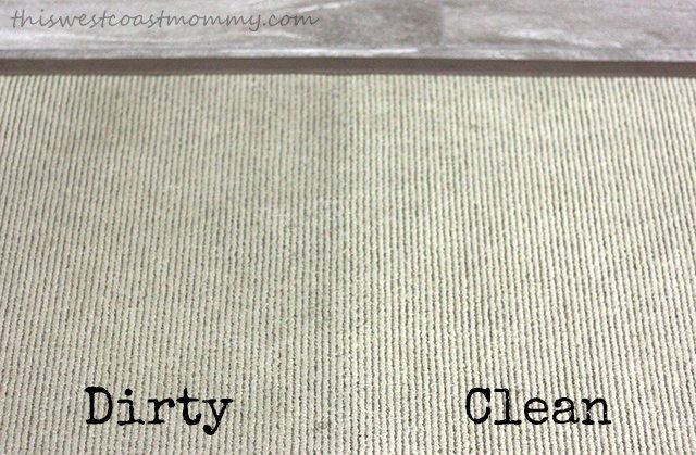 Dirty vs clean mat