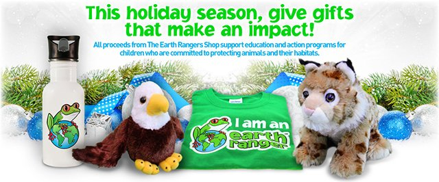 All proceeds from the Earth Rangers Shop support educational and and action programs for children committed to protecting animals and their habitats.
