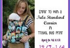 Win a Tula Baby Carrier in Travel Bug Print! {Closed}