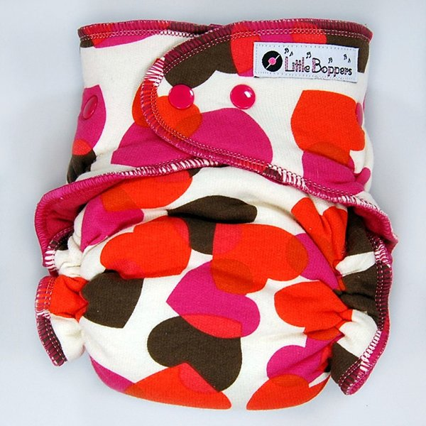 Falling Hearts OS AI2 diaper from Little Boppers
