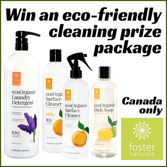 Win this eco-friendly cleaning package from Foster Naturals! (CAN only, 1/28)