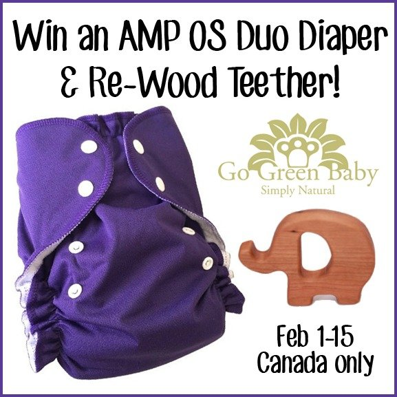 Win an AMP OS Duo Diaper & Re-Wood Teether (CAN, 2/15)