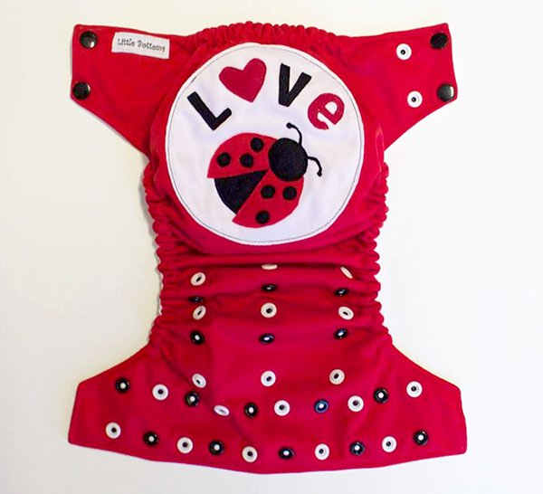 Love bug OS pocket from Little Bottoms