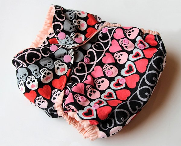 Heart & Bones AI2/diaper cover from Reuse Amuse