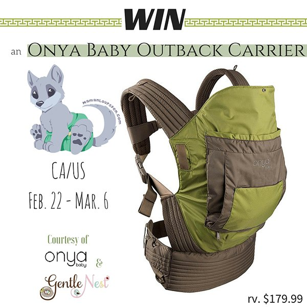 Win an Onya Baby Outback Carrier (US/CAN, 3/6)