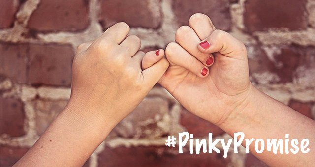 Make your #PinkyPromise on social media!