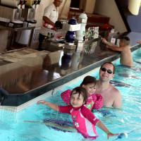 swim up pool bar