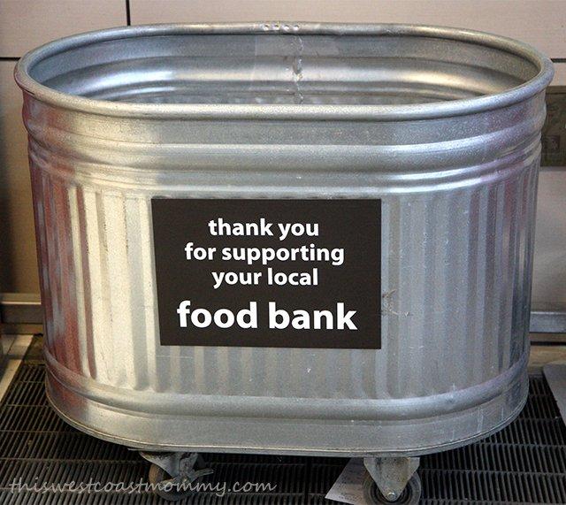 Food bank drop off
