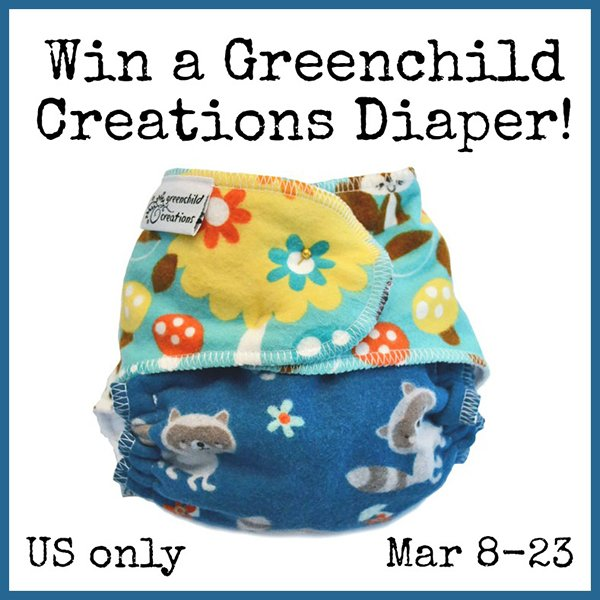 Win a Greenchild Creations diaper! (US only, 3/23)