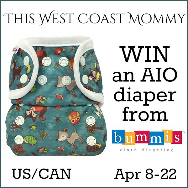 Win a Bummis AIO cloth diaper (US/CAN, 4/22)