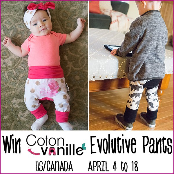 Win a pair of Coton Vanille evolutive pants (US/CAN, 4/18)