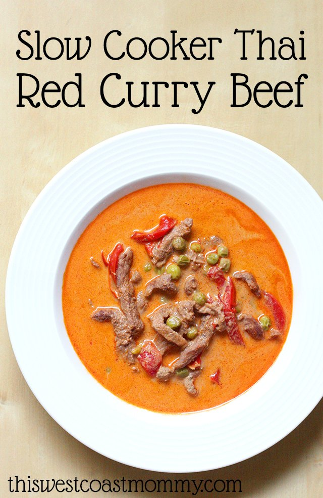 21 Gluten-Free Slow Cooker Beef Recipes: Slow Cooker Thai Red Curry Beef