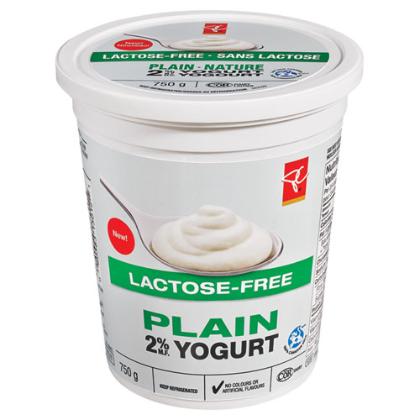 President's Choice lactose-free 2% M.F. yogurt