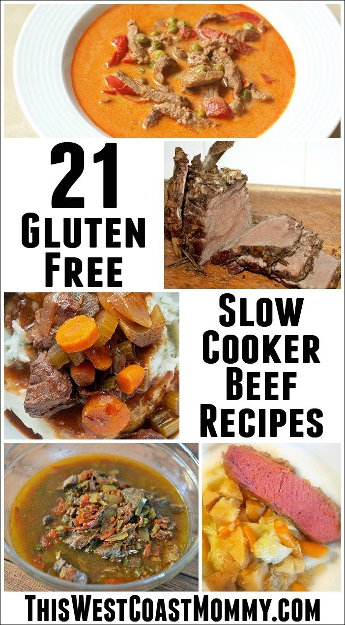 21 Gluten-Free Slow Cooker Beef Recipes - Easy peasy gluten-free recipes to feed your family!