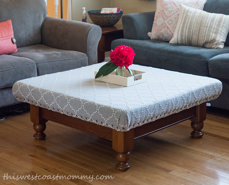 Coffee Table Ottoman.How To Turn Your Old Coffee Table Into A Stylish Ottoman This West