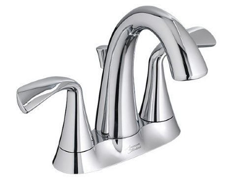 The American Standard Fluent Centreset Faucet is easy to clean, looks elegant, and features child-friendly handles.