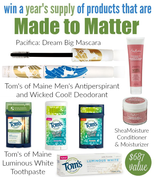 Win a Year's Supply of Made to Matter (RV$687) - US, 5/31