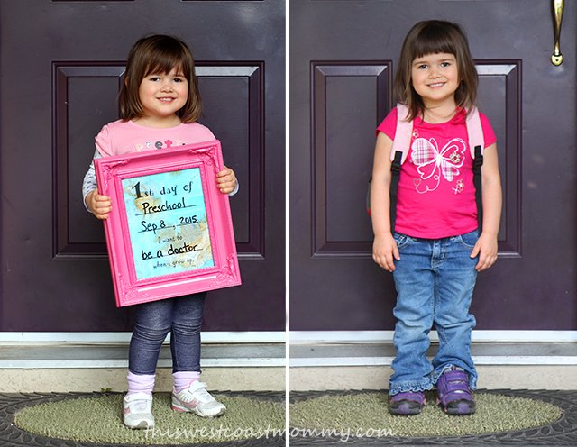 Kay's first and last day of school