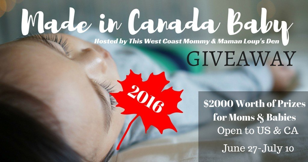 Made in Canada Baby 2016 - 6 huge prize packs for mom, kids, & baby worth over $2000