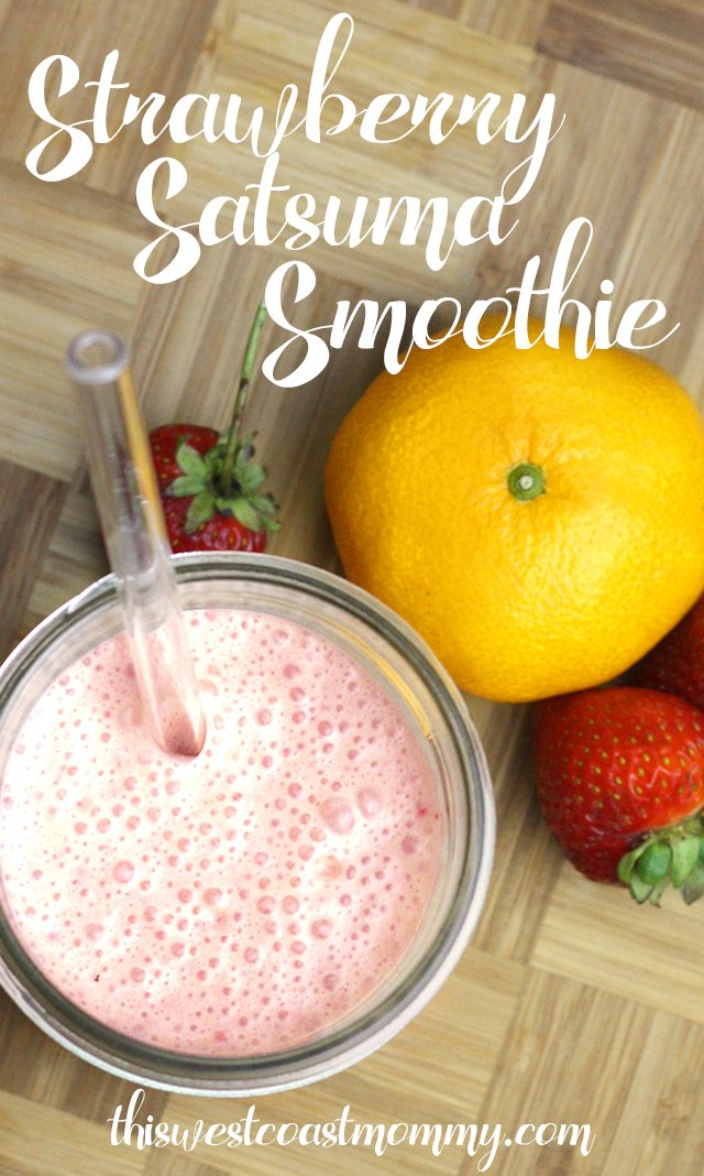 This icy, creamy smoothie is made with strawberries, sweet satsuma oranges, and Greek yogurt. Packed full of protein and healthy fats, this smoothie is perfect for breakfast, snacking, or anytime!