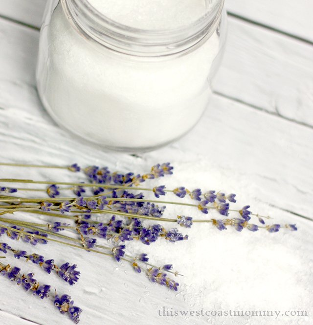 These DIY bath salts will pamper you with the aromatherapeutic benefits of calming lavender essential oil and the warmth of vanilla.