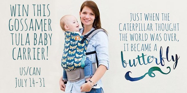 SWEEPSTAKES - Tula baby carrier giveaway