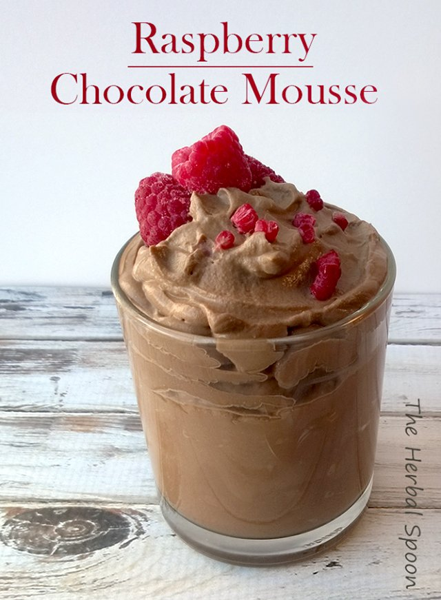 Raspberry Chocolate Mousse from The Herbal Spoon – This healthy ...