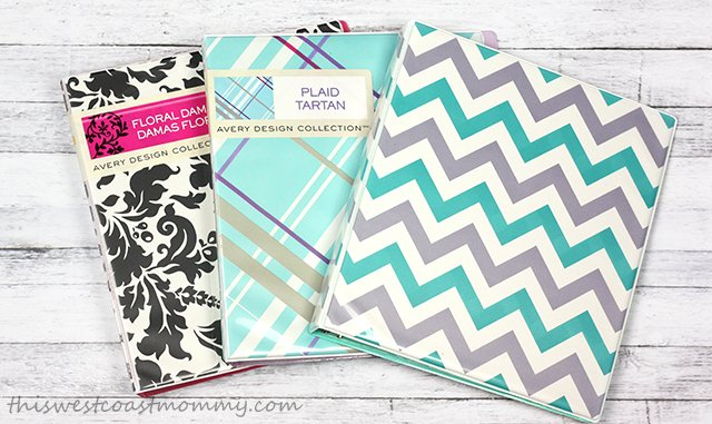 Avery design collection binders