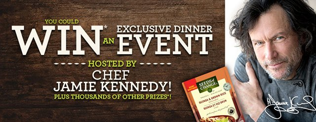 Win an exclusive dinner event hosted by Chef Jamie Kennedy!