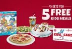 Boston Pizza Kids Cards Are Back! Donate $5 for 5 Free Kids Meals