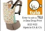 Win a Tula Baby Carrier in Dew Drop