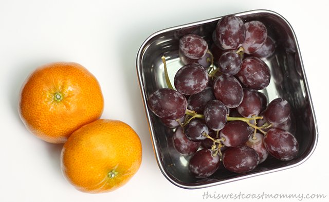 Offer choices. Mandarin oranges or grapes for lunch?