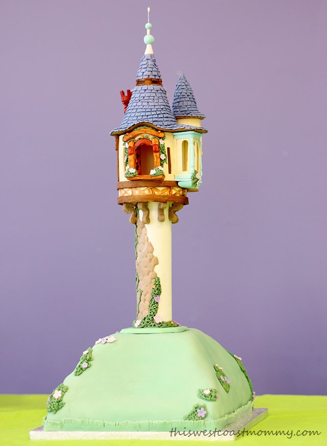 Rapunzel's tower cake made by The Cowardly Lemon