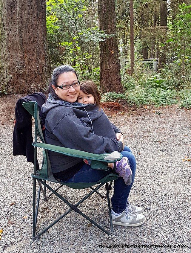 cuddling at camping
