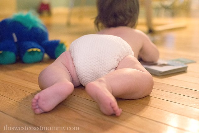 The Dimple Diaper from Bummis is the best of both worlds when it comes to absorbency and simplicity.