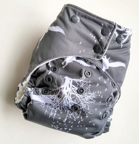 Harp Diapers Poe Reborn one size pocket diaper