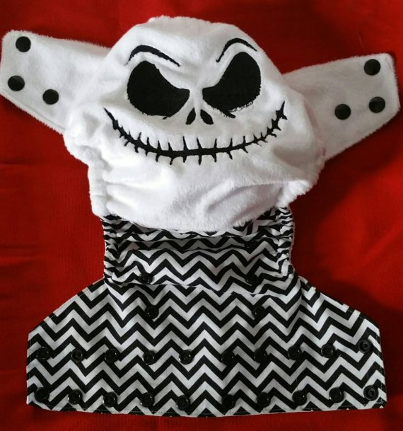 Little Owl B - Nightmare Before Christmas one size diaper cover or pocket diaper