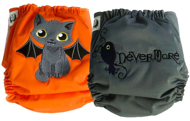 Mini Moose one size AI2 Halloween diapers