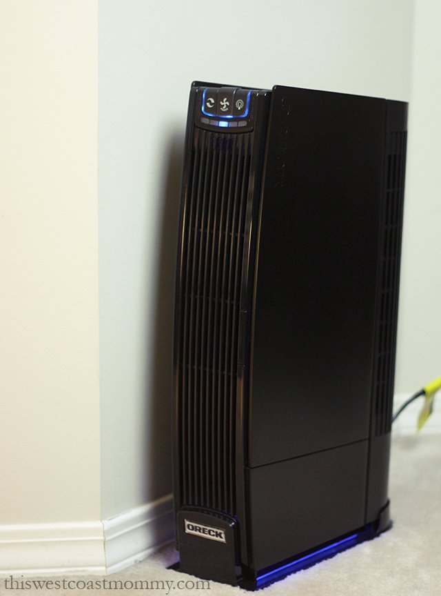 The Oreck ProShield Air Purifier cleans the air inside your home from allergens, dirt, dust, animal dander, bad odours, and volatile chemical compounds (VOCs).