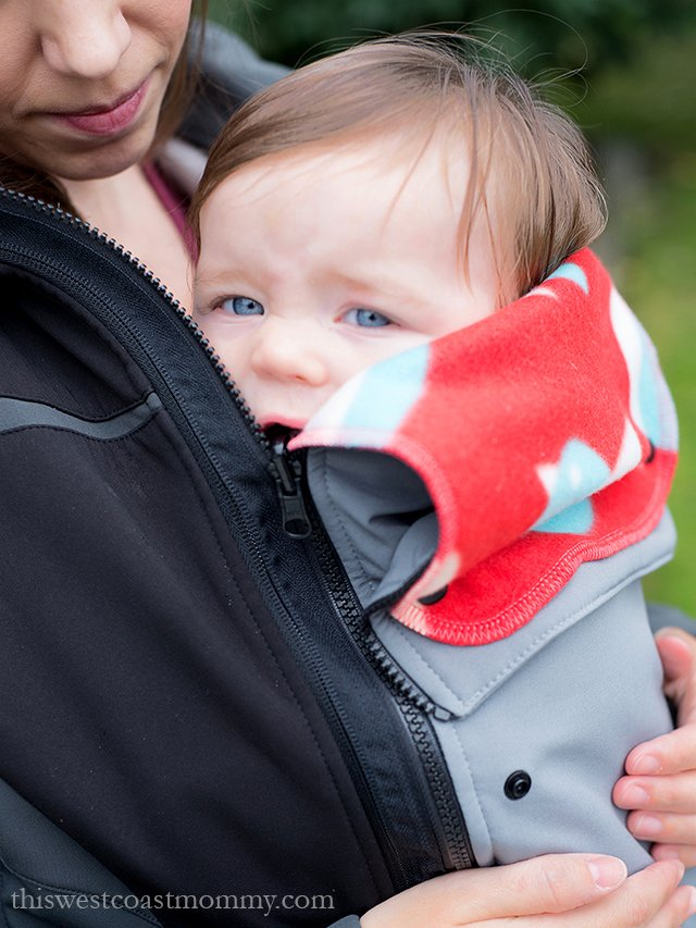 The MakeMyBellyFit jacket extender is so customizable, it fits comfortably over any type of front carrying baby carrier or wrap as well as pregnant bellies!
