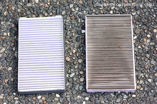 new vs old cabin air filters