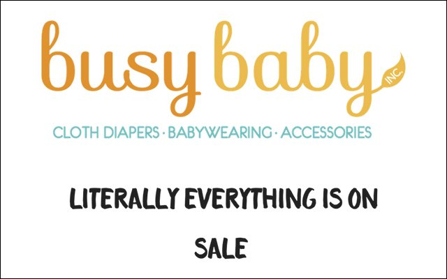 Busy Baby Black Friday